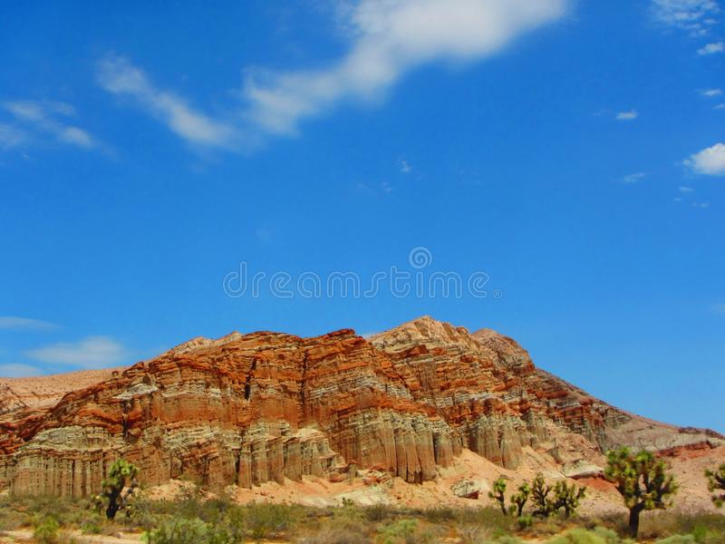 Interesting desert rock formations in California near death valley. royalty free stock photos