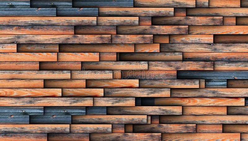 Interesting design for wooden wall. With repetitive wood boards stock photography