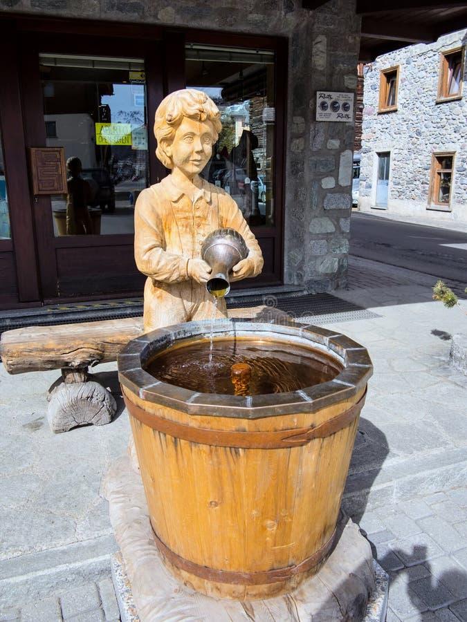 Interesting fountain of water in the Italian mountains. The interesting fountain of water in the Italian mountains royalty free stock photos