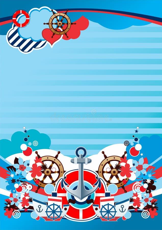 Download Interesting Marine Composition Stock Vector - Illustration: 17136281