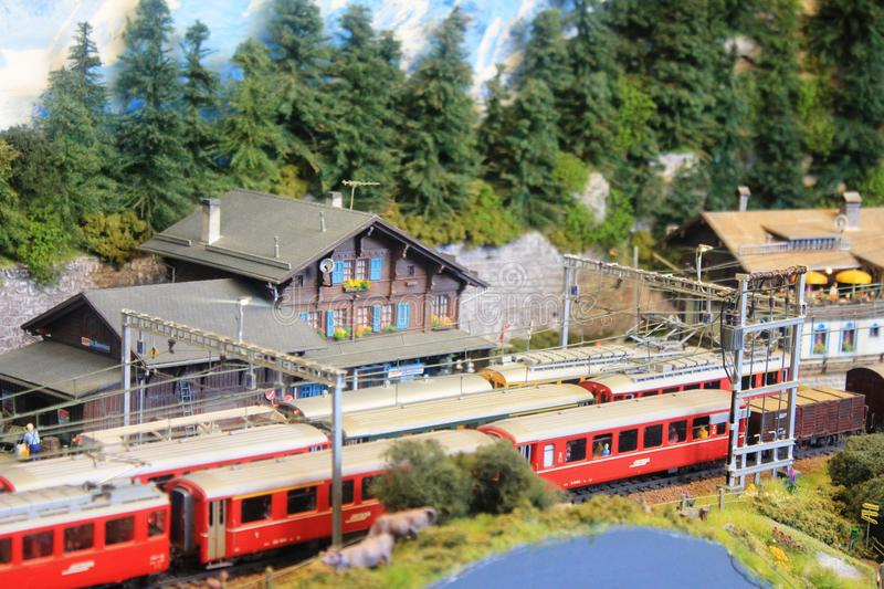 An interesting model train exposition in Luxembourg royalty free stock photos