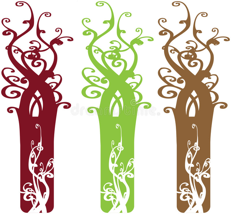 Download Interesting Ornate Tree Design Elements Stock Images - Image: 4402494