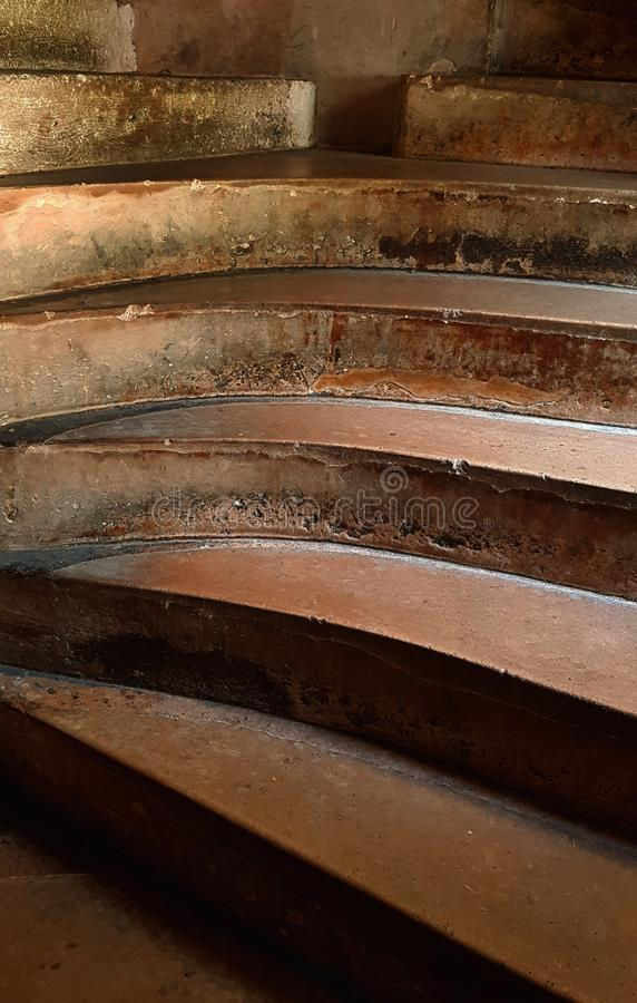 Abstract steps at Chateau Chillon Switzerland royalty free stock images