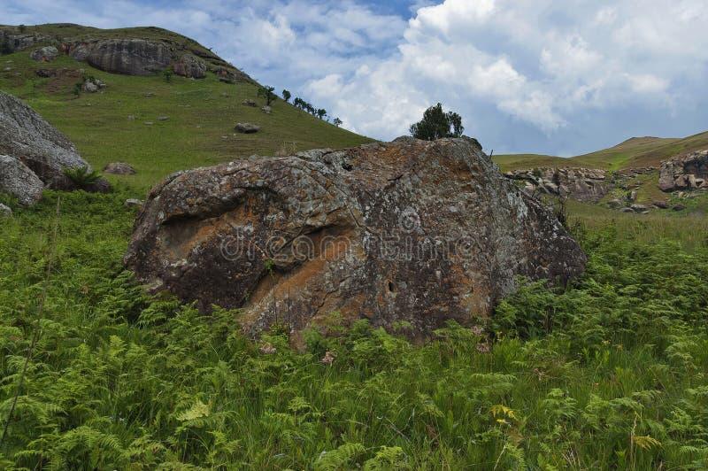 Interesting sedimentary rock in Giants Castle. KwaZulu-Natal nature reserve, Drakensberg South Africa royalty free stock photography