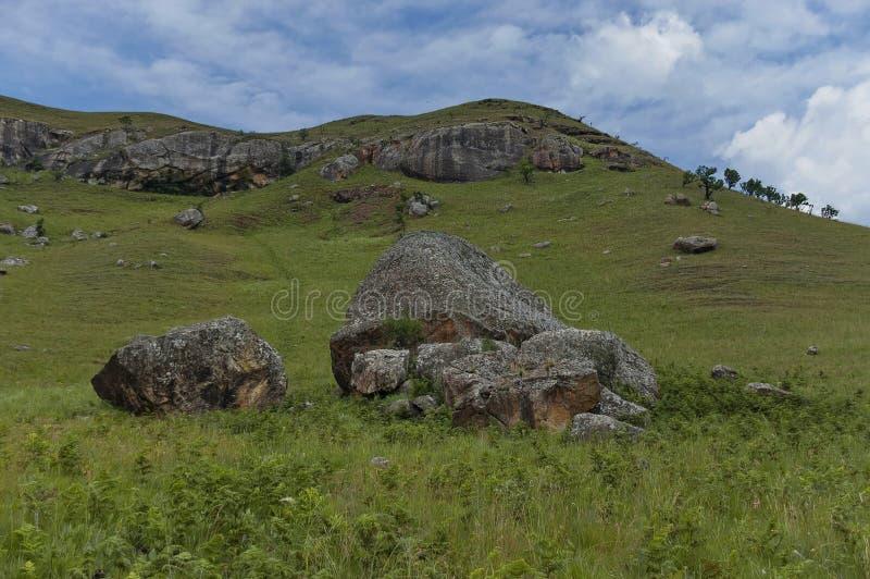Interesting sedimentary rock in Giants Castle. KwaZulu-Natal nature reserve, Drakensberg South Africa stock photography