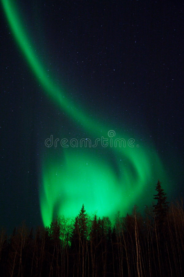 Interesting shape of northern lights