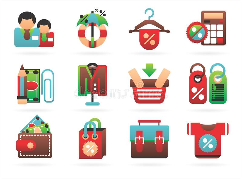 Download Interesting shopping icons stock vector. Illustration of male - 17123753