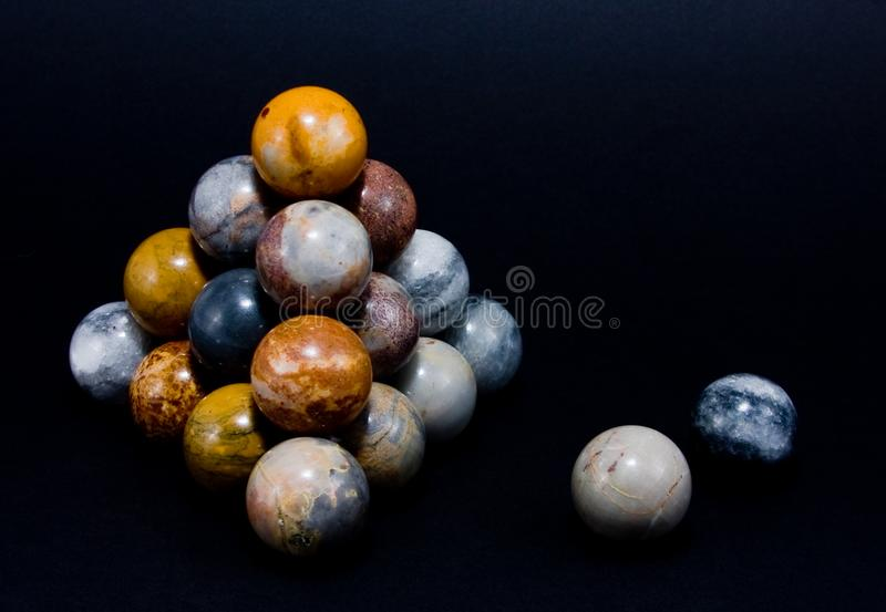Download Interesting Spheres Arranged In A Pyramid Stock Image - Image: 6870827
