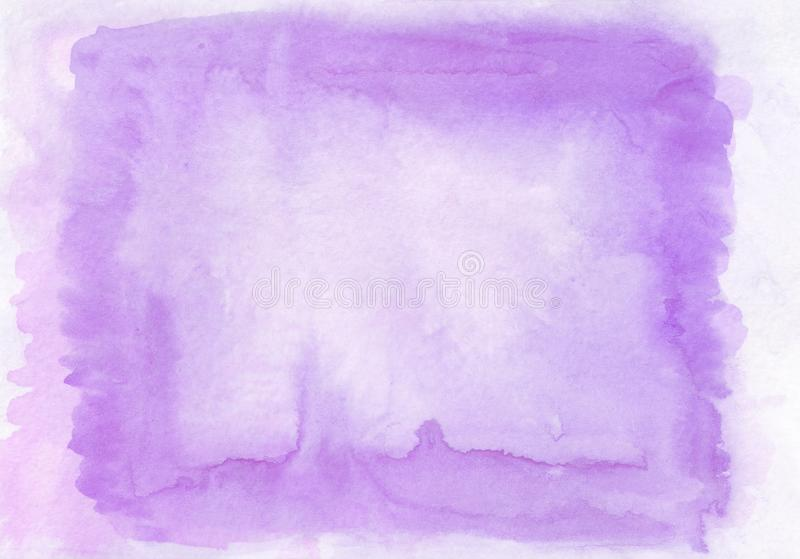 Interesting two layer lilac and violet watercolour horizontal gradient background with painted on the special watercolor stock photography