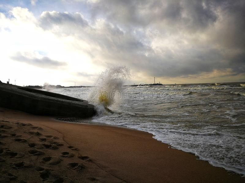 Wave break, amazing view royalty free stock images