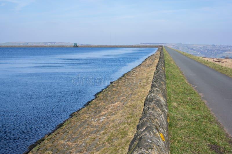 Deer Hill Reservoir near Meltham, West Yorkshire, England royalty free stock image