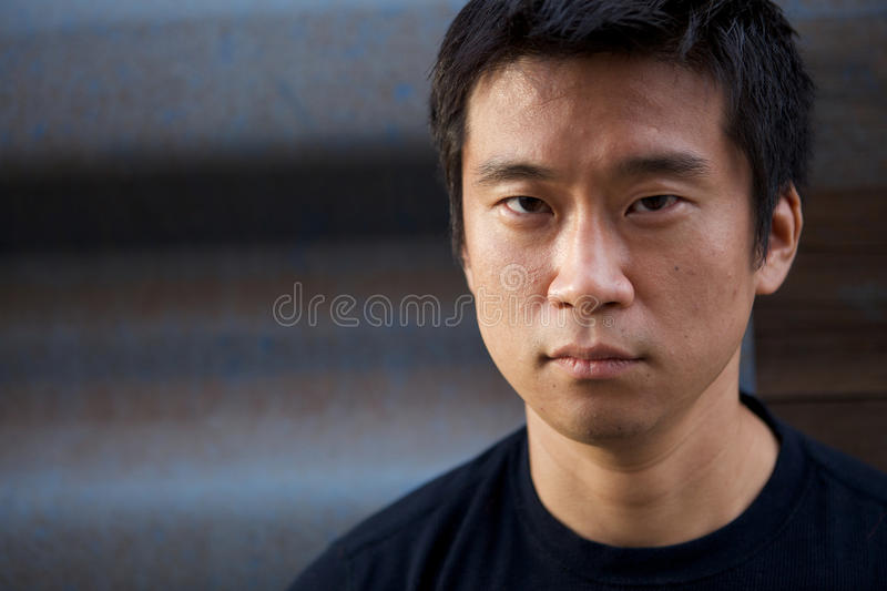 Interestng Asian Man royalty free stock photography