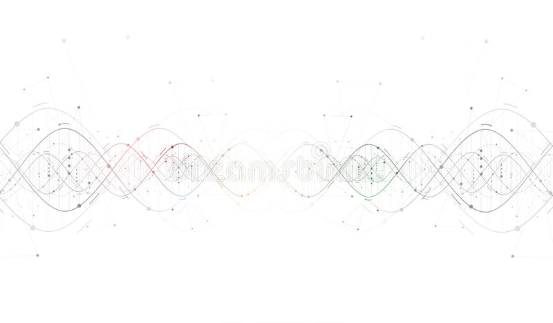 Interfa futurista abstracto de la tecnología de la DNA libre illustration
