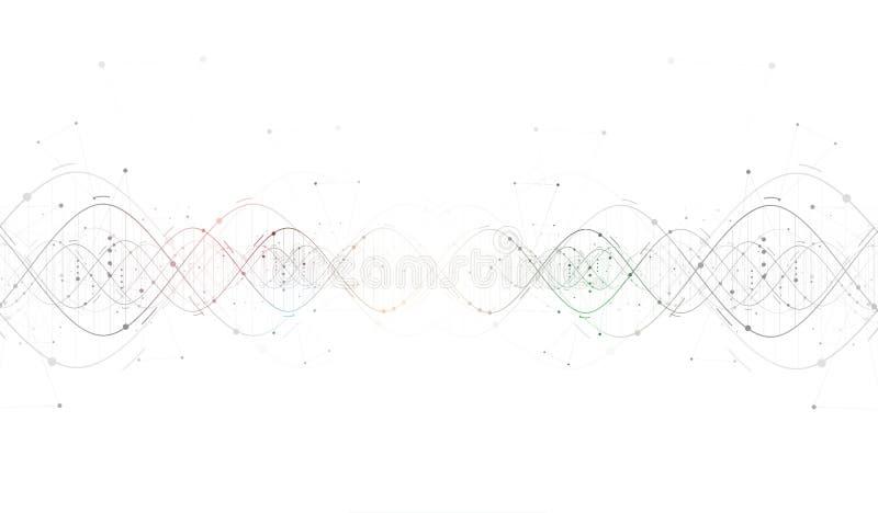 Interfa futurista abstrato da tecnologia do ADN ilustração royalty free