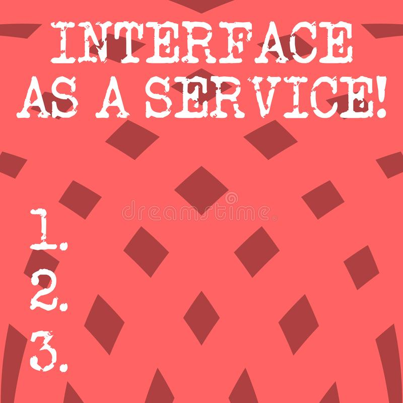 Interfaccia concettuale di rappresentazione di scrittura della mano come servizio Foto di affari che montra assistenza di tecnolo royalty illustrazione gratis
