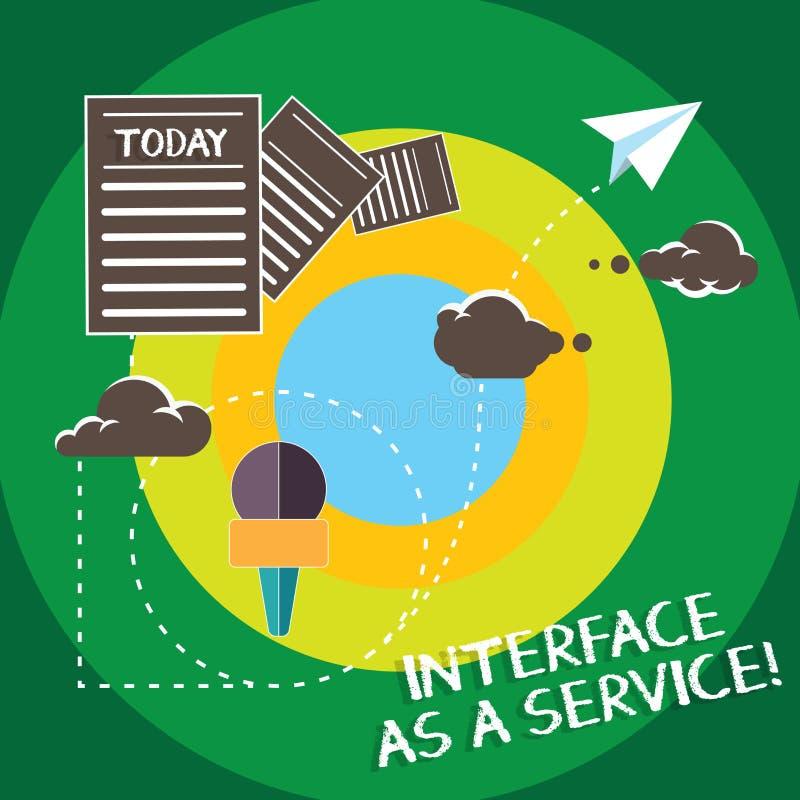 Interfaccia concettuale di rappresentazione di scrittura della mano come servizio Supporto di assistenza di tecnologie dell'infor royalty illustrazione gratis