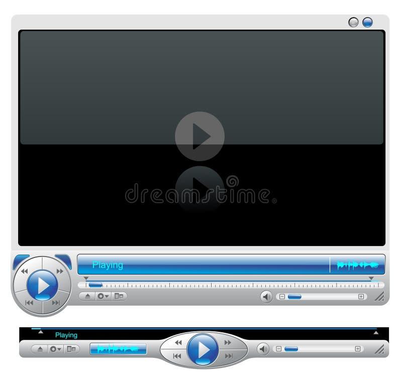 Interfaccia del lettore multimediale illustrazione di stock