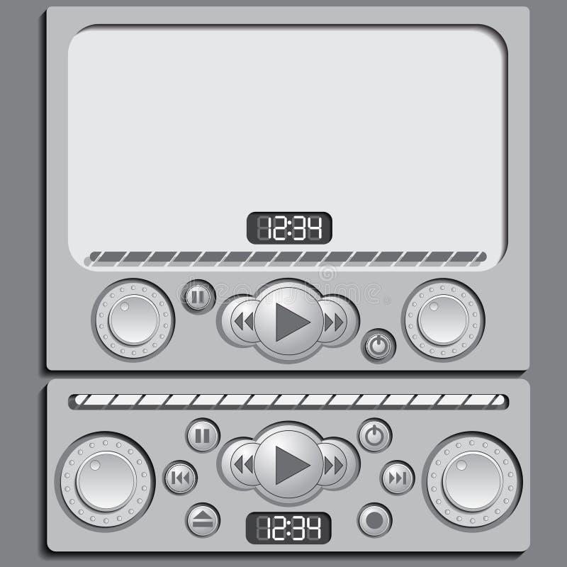 Interfaccia di audio, riproduttore video Antivari illustrazione vettoriale