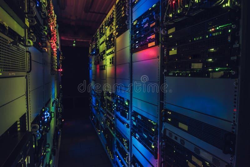 Interfaccia di centro dati fotografia stock libera da diritti