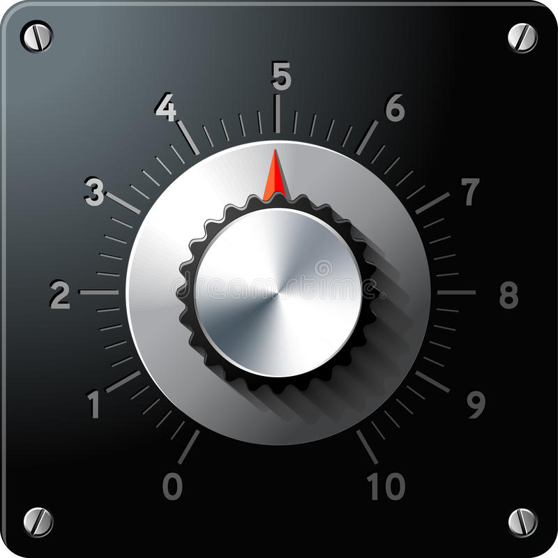 Interfaccia di controllo Analog del regolatore illustrazione di stock