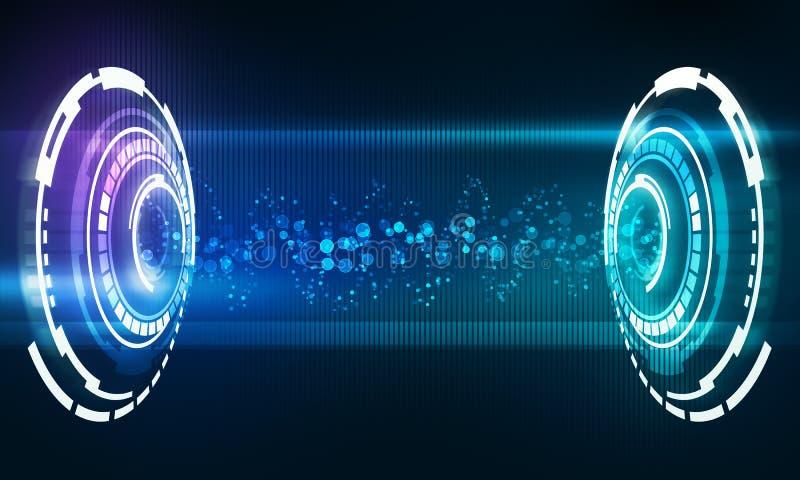 Interfaccia di musica con l'onda di flusso di energia sana royalty illustrazione gratis