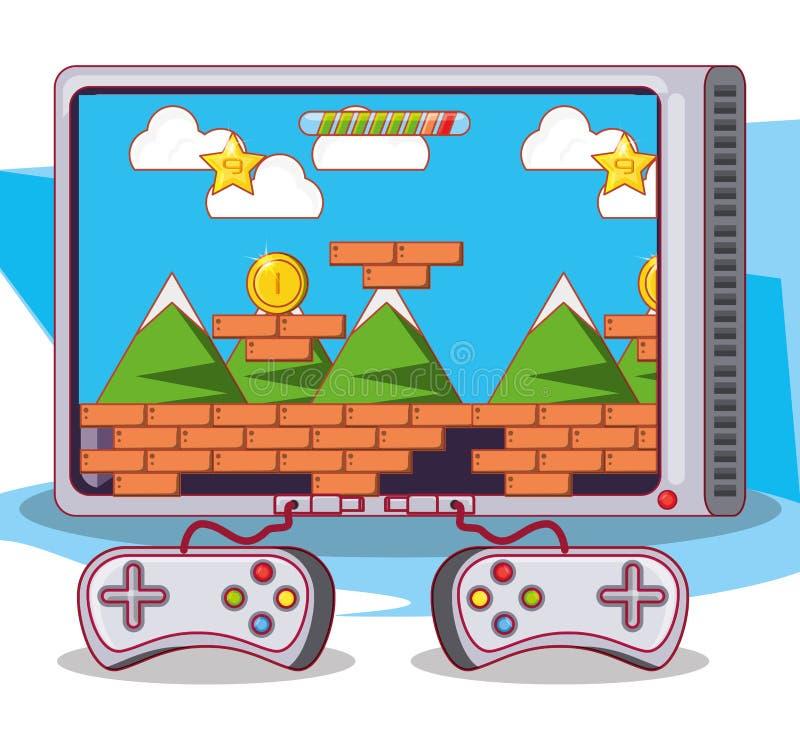 Interfaccia di scena del video gioco illustrazione vettoriale