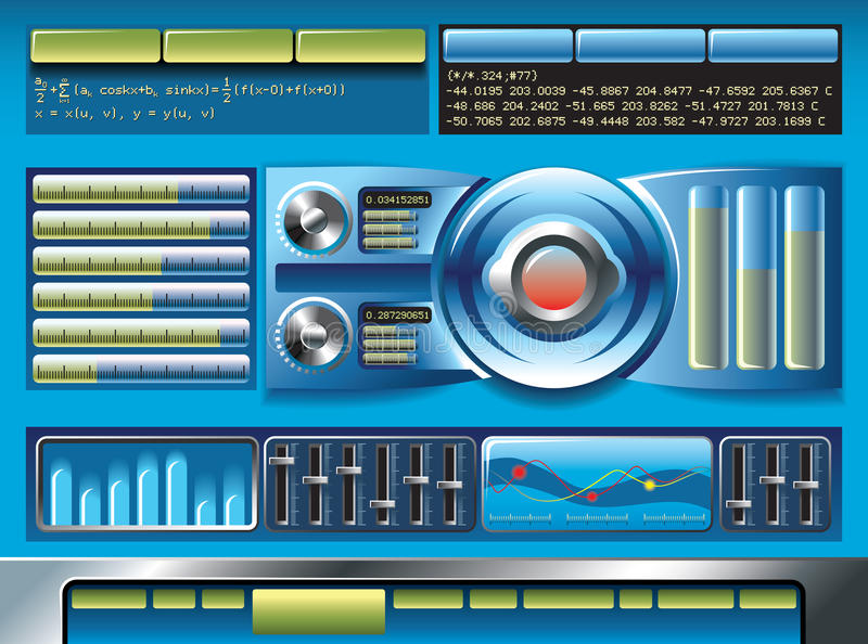 Interfaccia di software illustrazione vettoriale