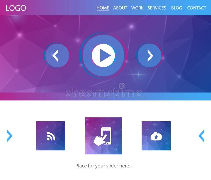 Interfaccia di web illustrazione vettoriale