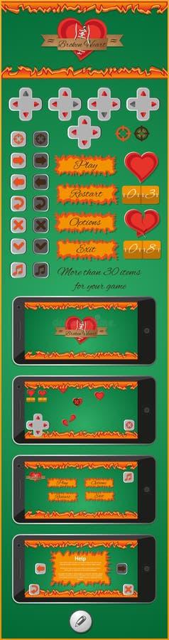 Interfaccia grafica per i giochi 3 royalty illustrazione gratis