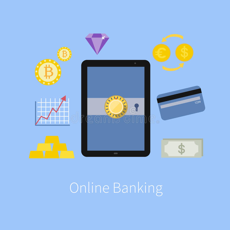 Interfaccia online di servizio bancario e commercio elettronico fi royalty illustrazione gratis