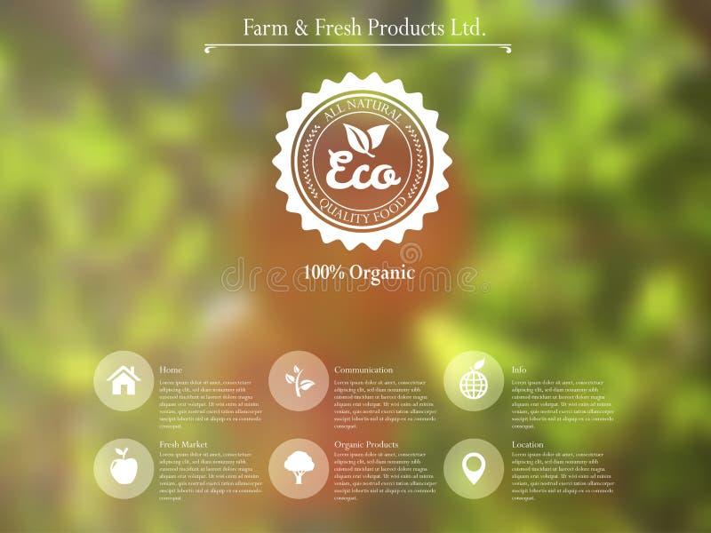 Interfaccia organica di web illustrazione vettoriale