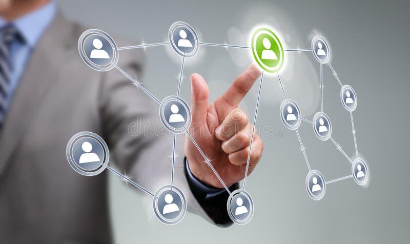 Interfaccia sociale di media fotografie stock