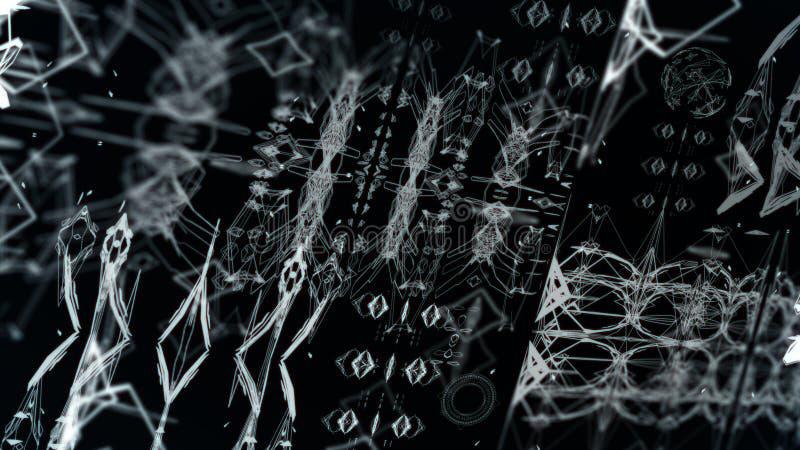 Interfaccia straniera di Digital illustrazione vettoriale