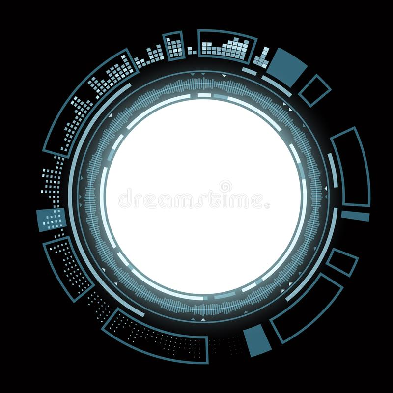Interfaccia utente di HUD con fondo bianco royalty illustrazione gratis