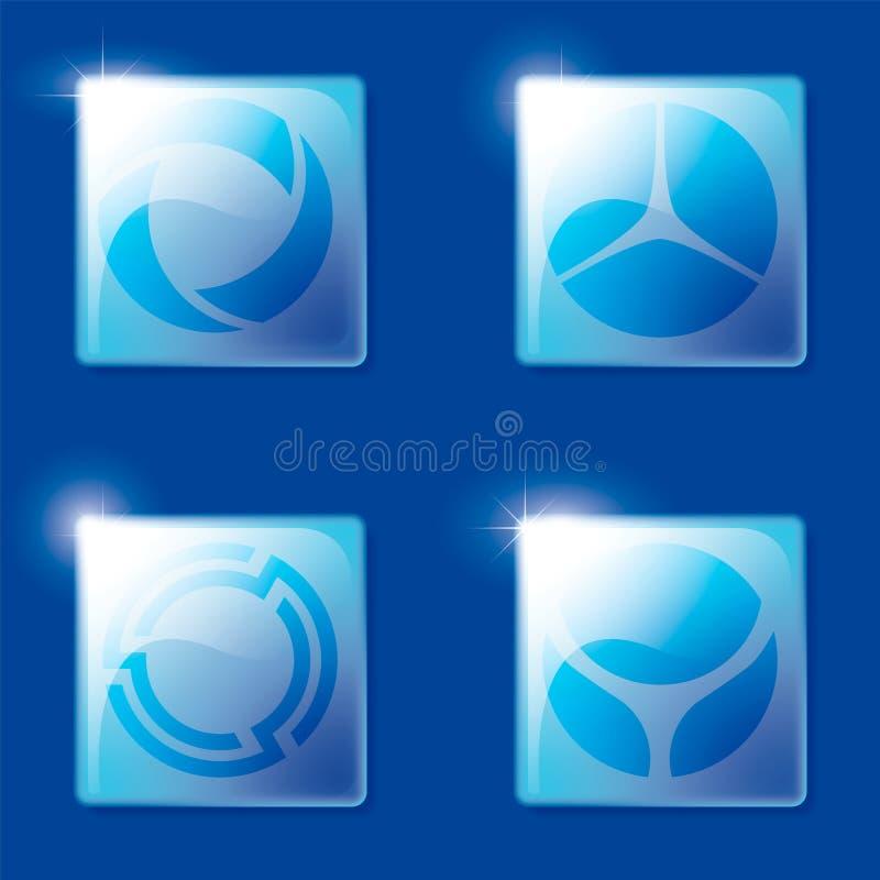 Interfaccia utente futuristica icone 3d per i bottoni di progettazione royalty illustrazione gratis