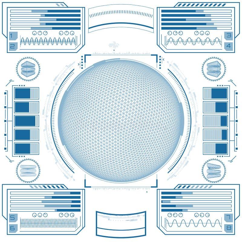 Interfaccia utente grafica futuristica illustrazione vettoriale