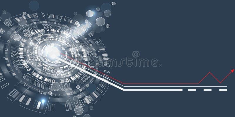 Interfaccia utente grafica futuristica Cerchio techno astratto illustrazione vettoriale
