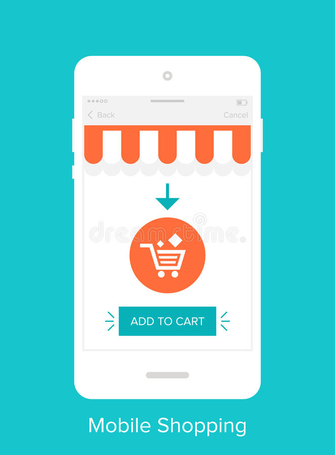 Interfaccia utente mobile royalty illustrazione gratis