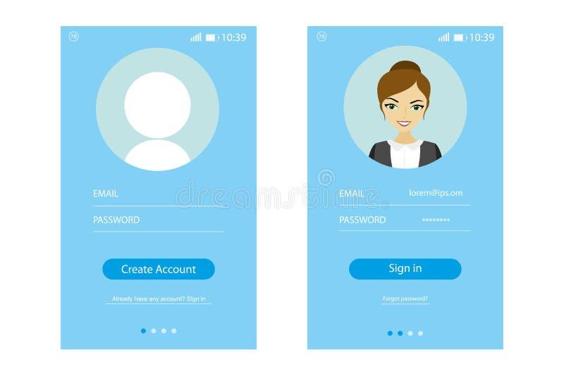 Interfaccia utente moderna UX royalty illustrazione gratis