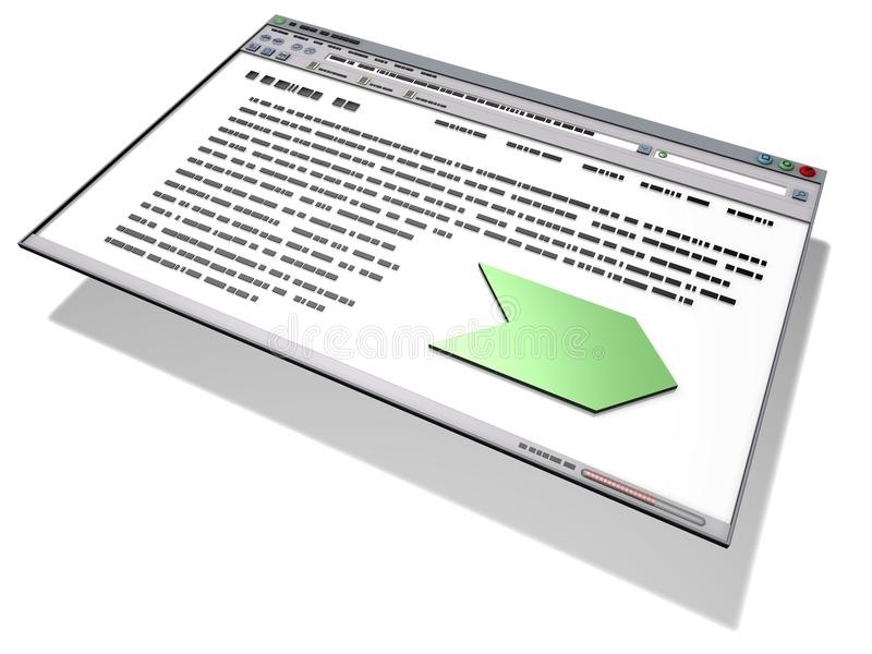 Interface. Graphical User Interface developped with 3D applications stock illustration