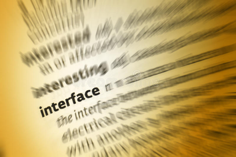 Interface images stock