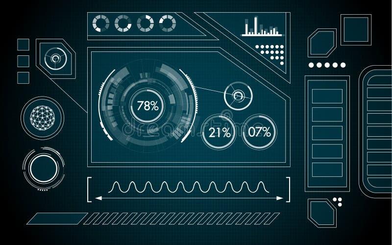 Interface illustration de vecteur