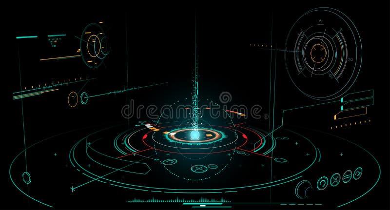 Interface abstraite illustration libre de droits