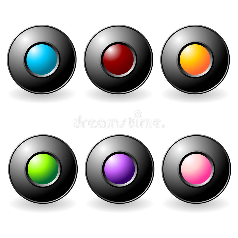 Download Interface buttons set stock vector. Image of purple, button - 13529959