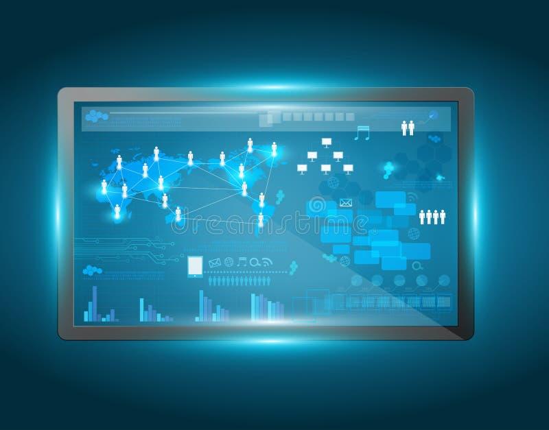Interface d'écran tactile de vecteur illustration libre de droits