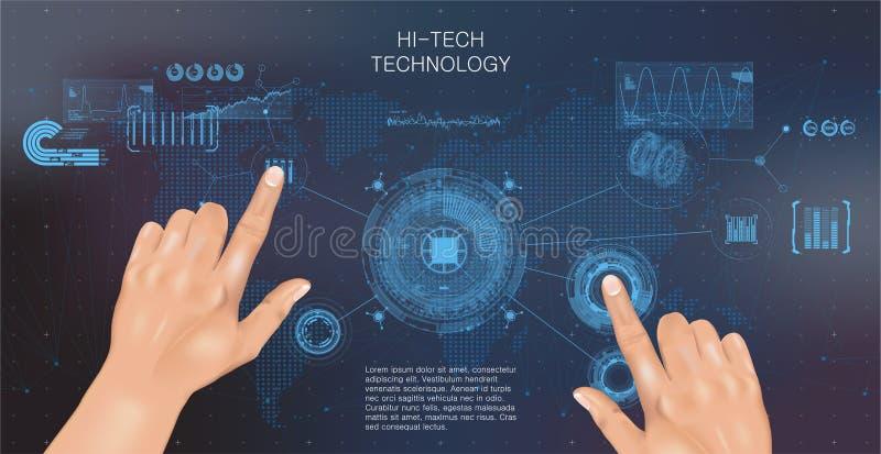 Interface de HUD illustration stock