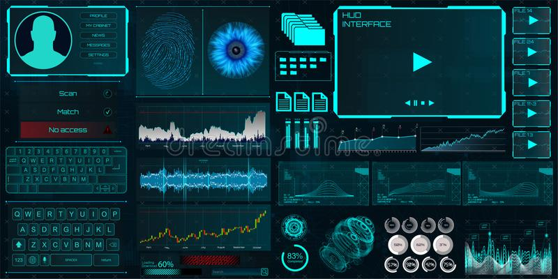 Interface de HUD UI pour les affaires APP illustration libre de droits