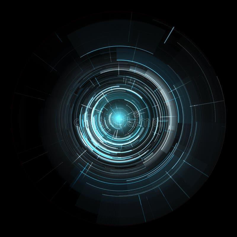 Interface de usuário futurista do tela táctil, HUD Isolated ilustração royalty free