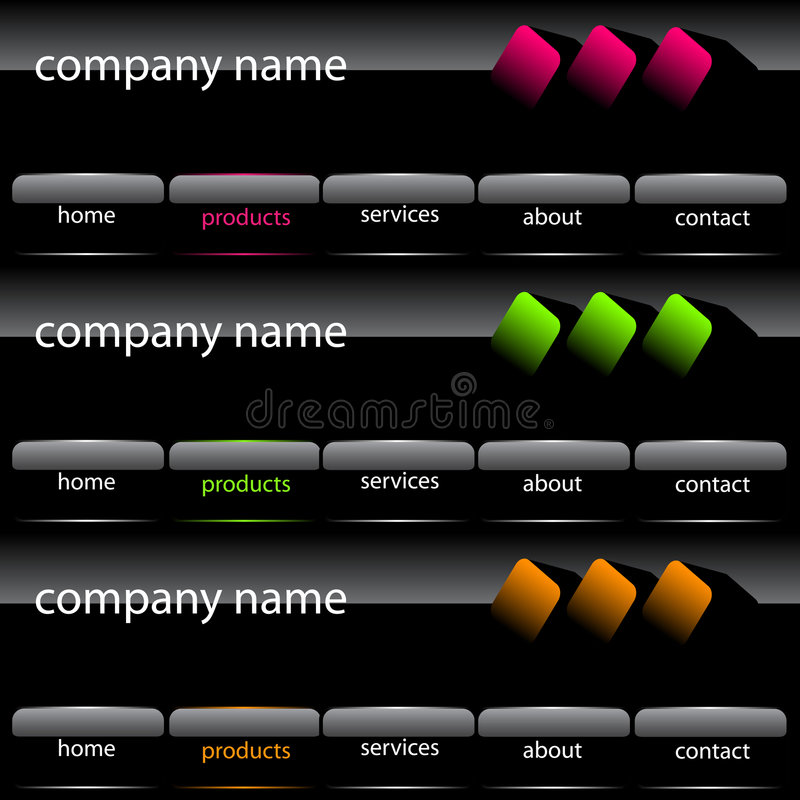 Interface de utilizador do Web site ilustração royalty free