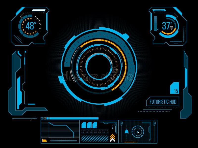 Interface de utilizador futurista HUD fotografia de stock